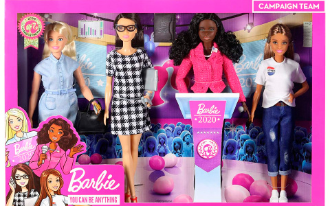 Barbie President Campaign Team Giftset with 4 dolls