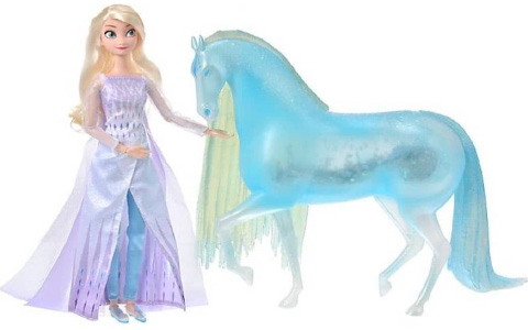 New Frozen 2 Elsa Snow Queen and ice Nokk doll set from Disney Store