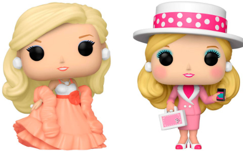 Funko POP Retro Toys Barbie: Peaches N Cream Barbie, Business Barbie, Rock Star Barbie