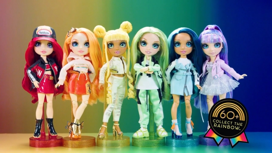 Rainbow High dolls in their second outfit