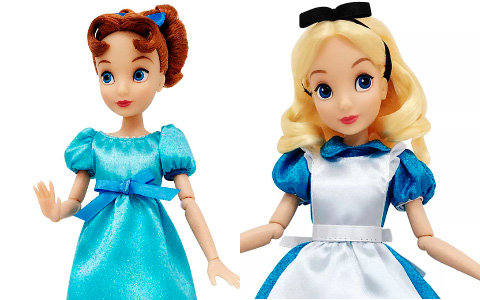 New Disney Store classic dolls Esmeralda, Megara, Alice, Wendy and Tinker Bell are available now