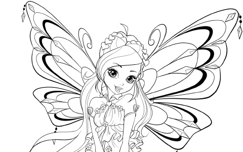 Winx Club season 8 Enchantix coloring pages