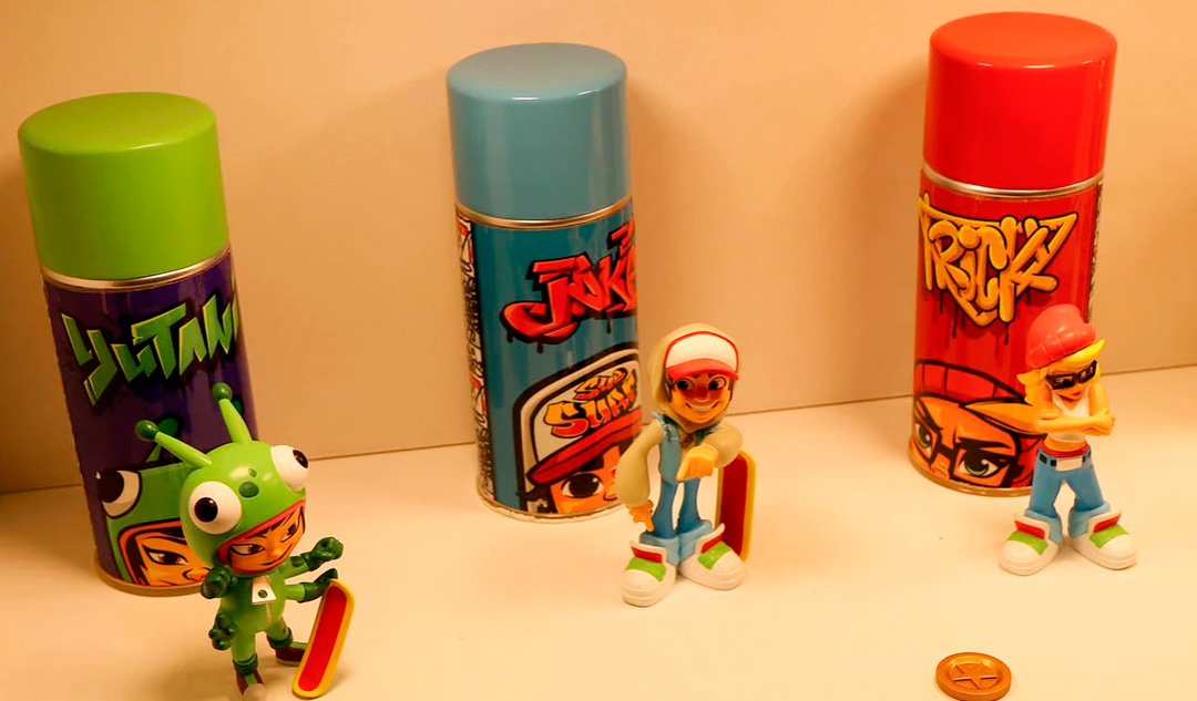 Subway Surfers Spray Can Jake Brand New IN HAND