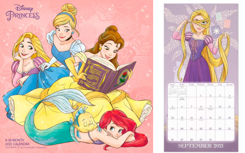 Disney Princess new monthly wall Calendar 2021