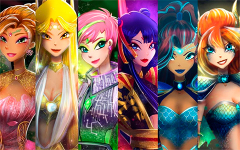 Winx Guardinx - fan made transformation for the grown up Winx