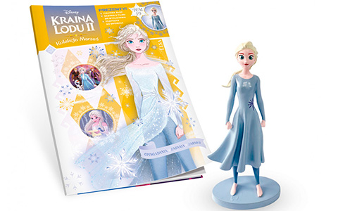 Frozen 2 magazines with with unique characters figures from Poland