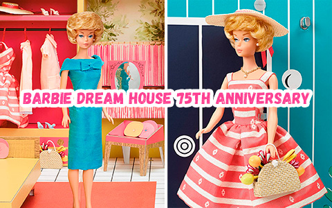Barbie Dream House 75th anniversary re-release of 1962 with doll