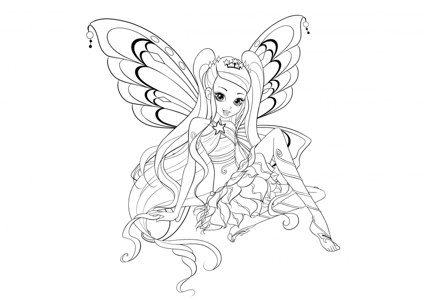 Winx Club season 8 enchantix  Stella coloring page