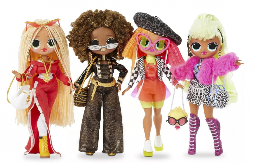 LOL OMG 4 pack dolls