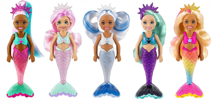Barbie Color Reveal Mermaid Chelsea dolls