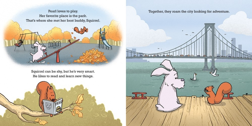 Pearl and Squirrel Give Thanks - adorable picture book perfect for Thanksgiving