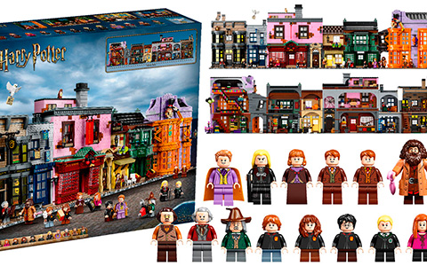 Huge LEGO Harry Potter Diagon Alley 75978 set 2020