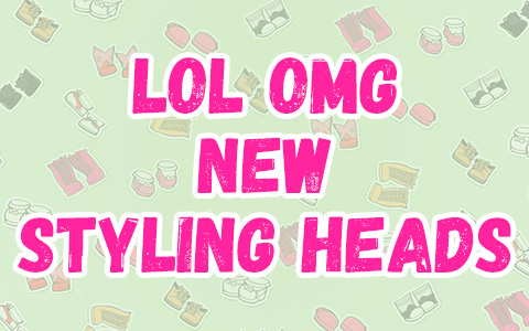 LOL Surprise OMG Styling Head Candylicious and Miss Independent – new LOL OMG dolls heads for style hair play