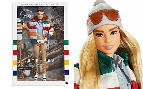 Hudson's Bay Barbie 2020 limited edition doll - Stripes HBC