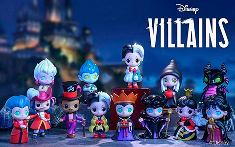 POP MART Disney Villains Vinyl Mini Figurines – cute versions of Maleficent, Evil Queen,Cruella De Vil, Ursula, Lady Tremaine, Hades, Captain Hook and more