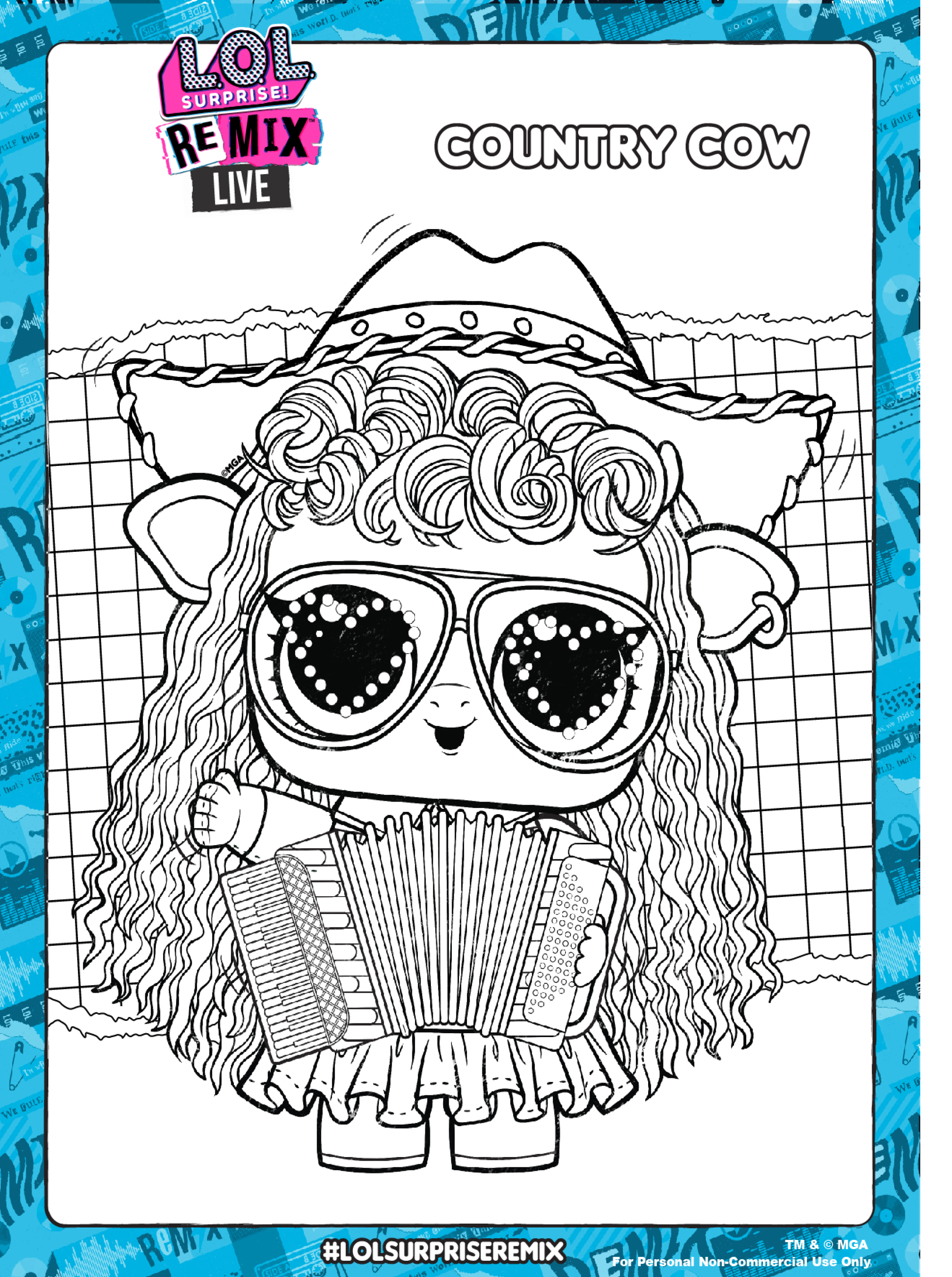 lol surprise remix coloring pages and activity pages