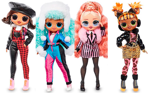 LOL OMG Winter Chill dolls - Big Wig, Icy Gurl, Missy Meow, Camp Cutie