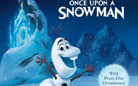 Once Upon a Snowman book with Frozen press-out ornaments