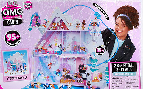 LOL Surprise OMG Winter Chill Cabin House - all about new LOL OMG wooden doll house 2020