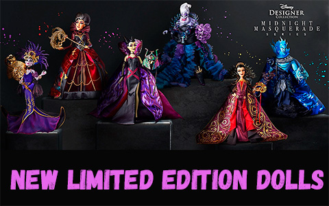 Limited Edition Disney Villains Designer Collection Midnight Masquerade 2020 dolls – series 2 with villains
