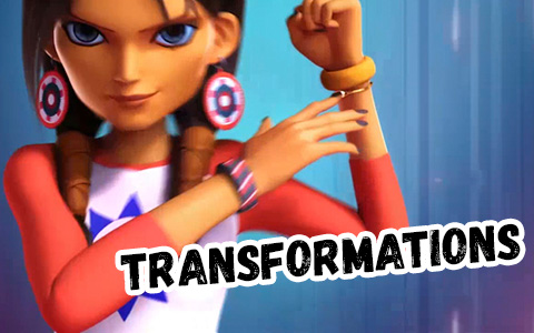 Miraculous Jess: Sparrow and Eagle transformation. New character from Miraculous World: New York
