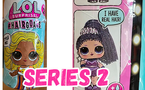 LOL Surprise Hairgoals series 2 – new LOL dolls with long real hair