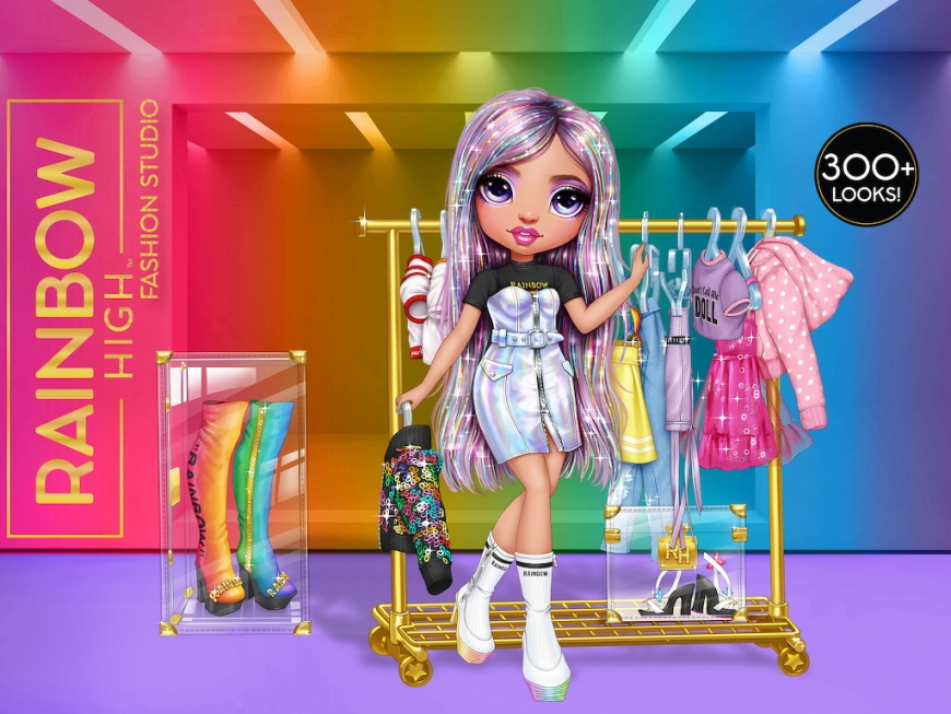 Rainbow High Fashion Studio Avery Styles official art