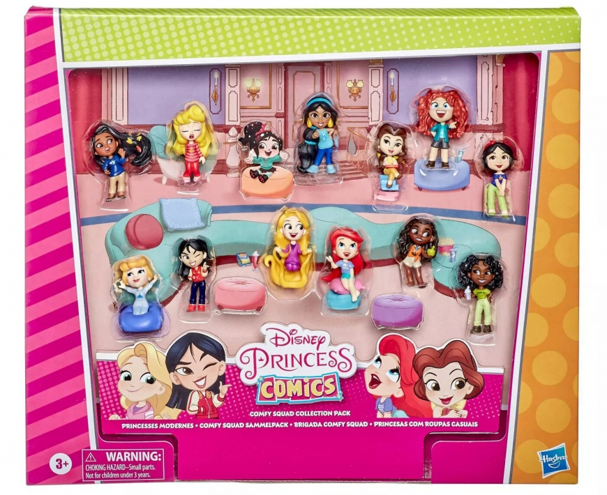 Disney Princess Comics Minis Comfy Squad Collection Pack with 12 dolls