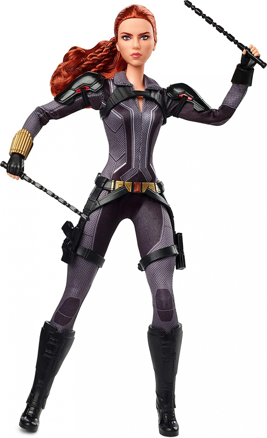 Collector Barbie Black Widow Doll 2020 in black suit