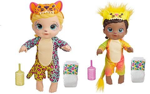 Baby Alive Rainbow Wildcats dolls