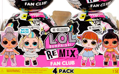 LOL Surprise Remix Fan Club - special release of the Kitty Queen, Line Dancer, 80s B.B., Honey Bun dolls