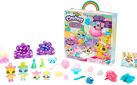 Mattel Cloudees Birthday Party and Beach Party play sets