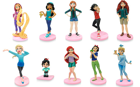 Disney Store Ralph Breaks the Internet Mega Figure Set with Comfy Princess figures