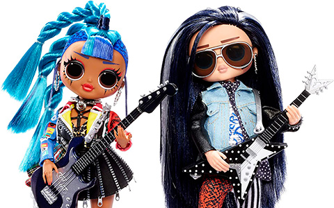 First LOL OMG Boy in LOL Surprise OMG 2-Pack Punk Grrrl and Rocker Boi