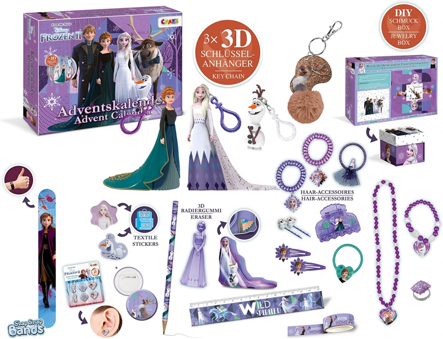 Frozen 2 Advent Calendar 2020 figure key chans