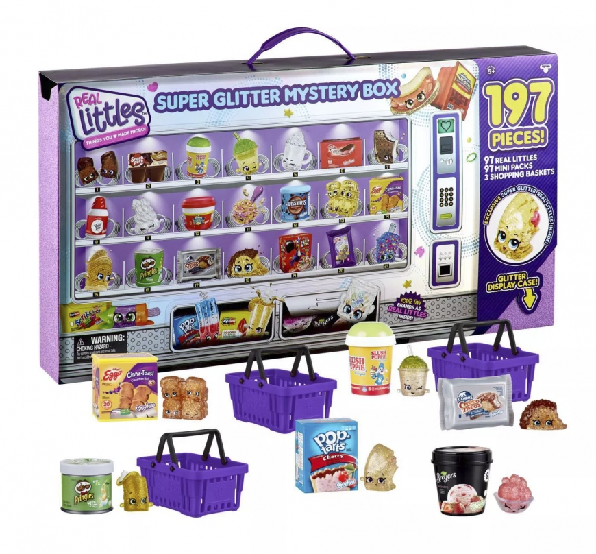 Shopkins Real Littles Super Glitter Mystery Box with 197 Pieces