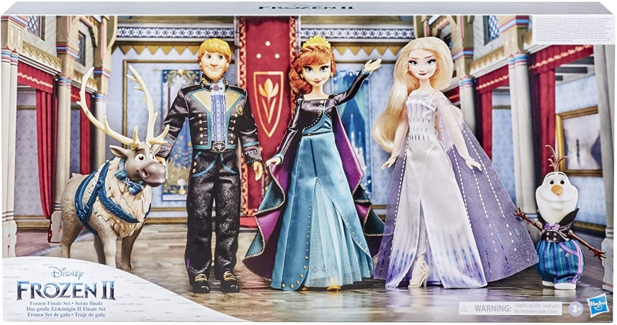 Frozen 2 Finale Set, with Anna, Elsa, Kristoff, Olaf and Sven dolls in new outfits