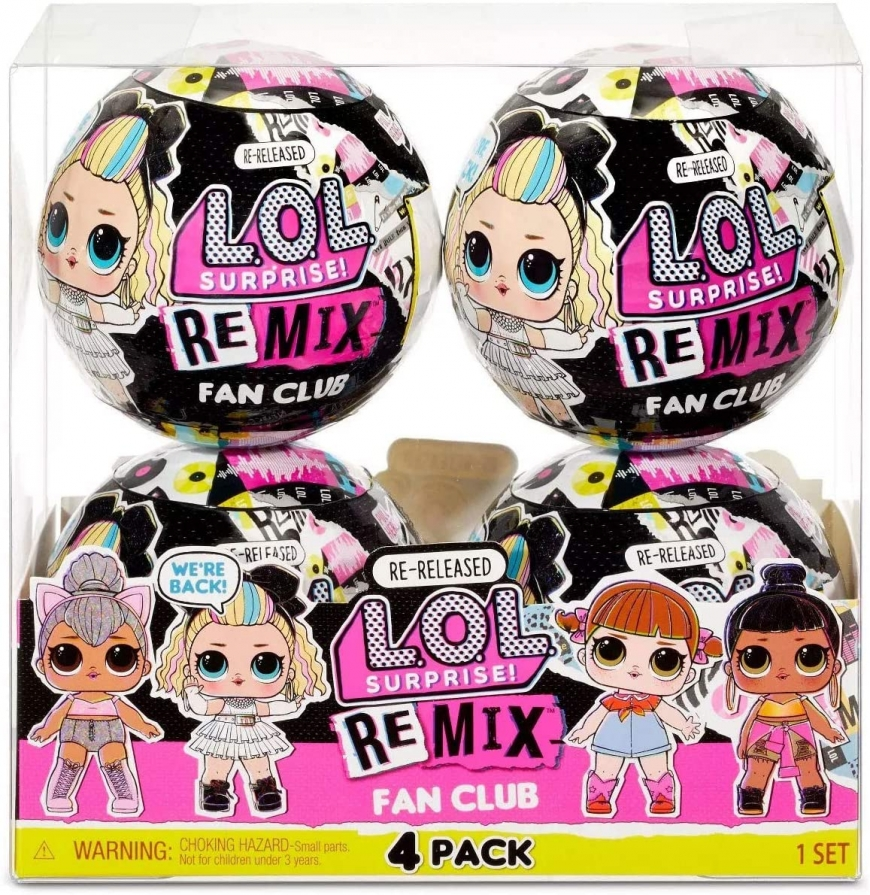 LOL Surprise Remix Fan Club 4 pack