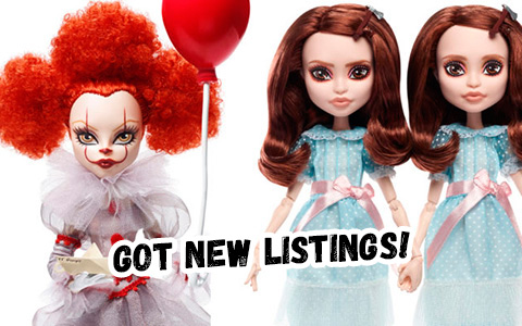Mattel release 2 new Monster High collector dolls 2020 - Pennywise and Shining Twins!