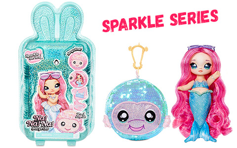 Na Na Na Surprise Sparkle series 1: Mermaid, Dolphin, Whale, Duck, Penguin and Parrot