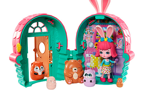Enchantimals Bree Bunny Cabin and Peeki Parrot Tree Hut