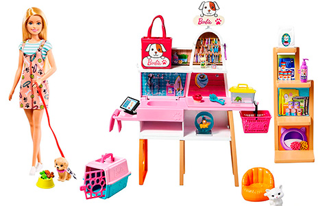 Barbie Pet Boutique Playset with Pets