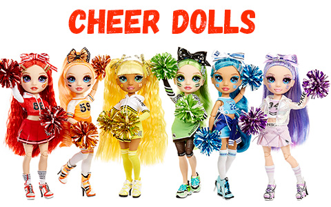 Rainbow High Cheer dolls – new Rainbow High Cheerleader Squad 2021 doll collection