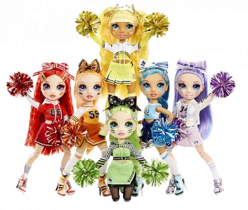 Rainbow High Cheer Violet dolls stock picture