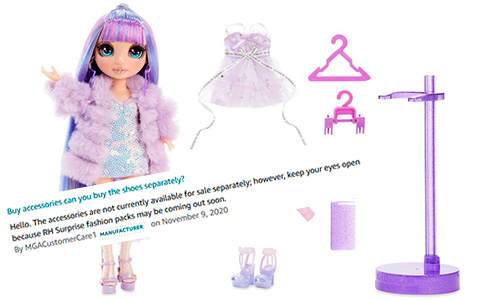 Rainbow High fashion packs for dolls coming soon?