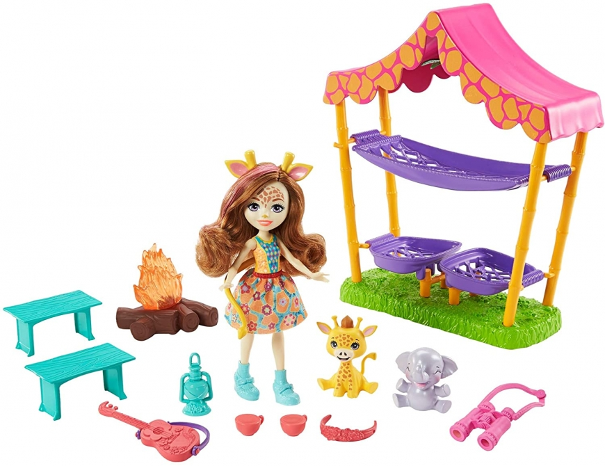 Enchantimals Savannah Sleepover Playset with Griselda Giraffe Doll