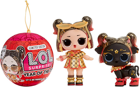 LOL Surprise Year of the Ox - Lunar New Year Supreme 2021 Golden B.B. and Golden Ox dolls