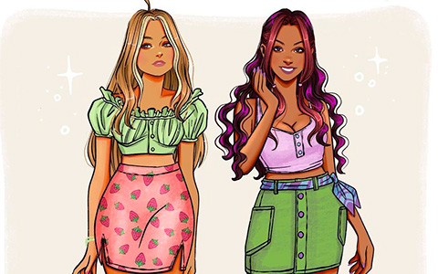 Modern and realistic Winx and Trix