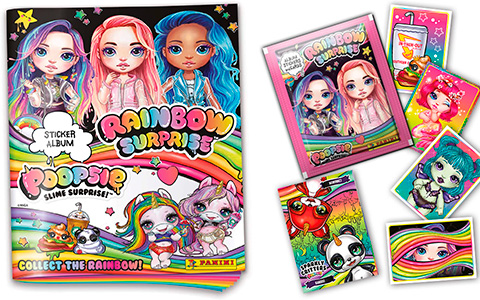 Panini Poopsie Rainbow Surprise Sticker collection with album