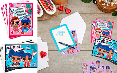 Hallmark Kids LOL Surprise Valentines Day Cards and Stickers